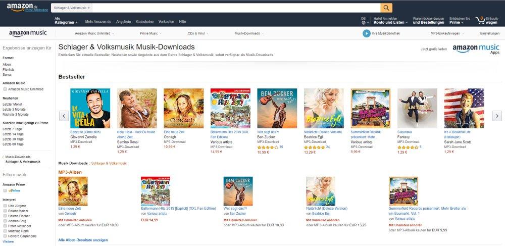 Schlagermusik & Volksmusik: MP3-Downloads im Internet