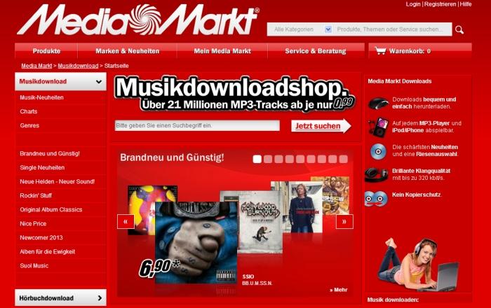 Media Markt Musikdownloads