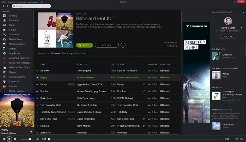 Spotify » Musikstreaming Dienst